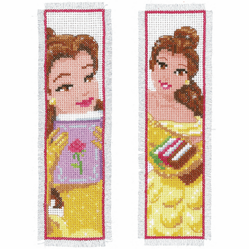 Counted Cross Stitch Kit: Bookmarks: Disney: Beauty: (Set of 2) By Vervaco