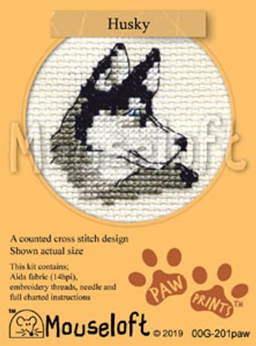 Husky Cross Stitch Kit by Mouseloft