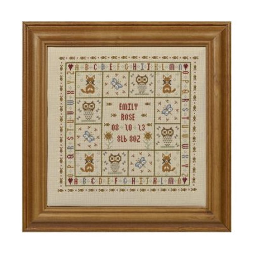 Four Foxes Birth Sampler Cross Stitch By Historical Sampler Company