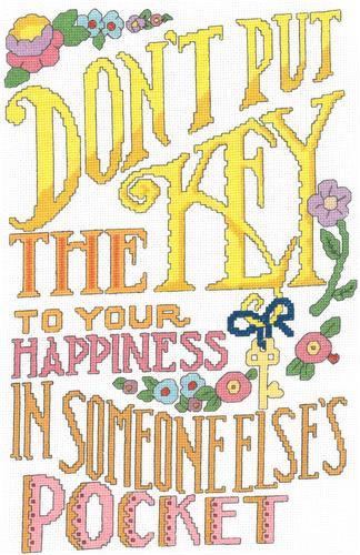 Key to Happiness Cross Stitch Chart