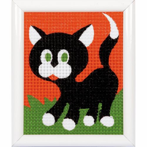 Black Kitten Tapestry Kit By Vervaco