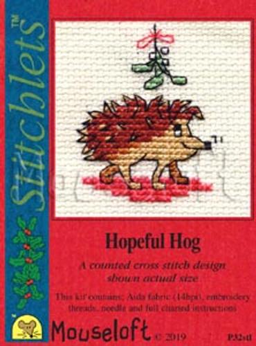 Hopeful Hog Cross Stitch Kit by Mouseloft