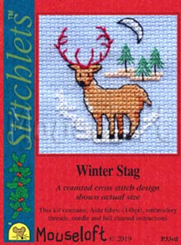 Winter Stag Cross Stitch Kit by Mouseloft