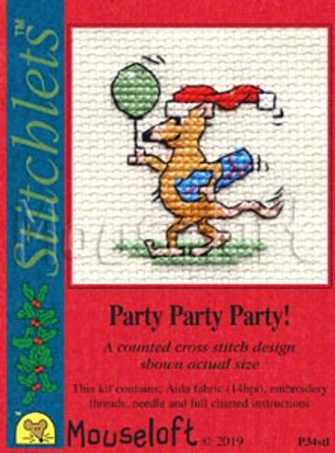 Party Party Party Cross Stitch Kit by Mouseloft
