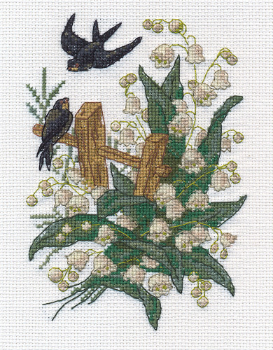 Swallows Counted Cross Stitch Kit By Panna