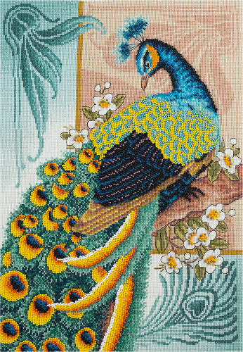 Peacock Beauty Counted Cross Stitch Kit by Panna