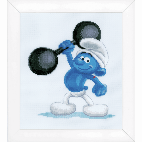 Counted Cross Stitch Kit: The Smurfs: Hefty By Vervaco