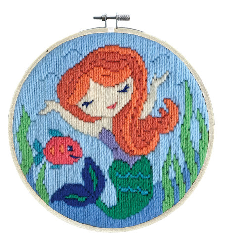 Mermaid Song Long Stitch Kit By Needleart World