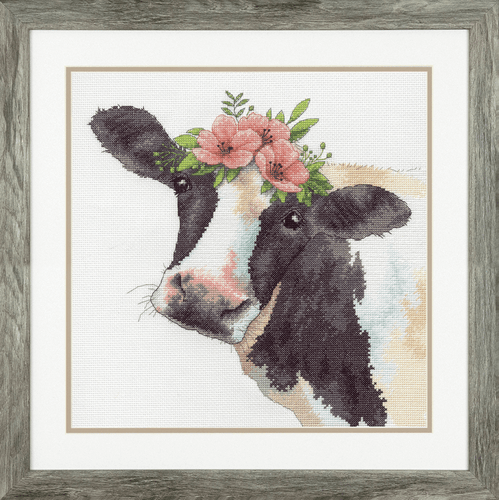 Sweet Cow Counted Cross Stitch Kit By Dimensions