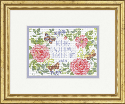This Day Verse Counted Cross Stitch Kit By Dimensions