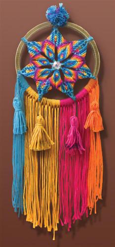 Rainbow Star Macramé Kit by Design Works