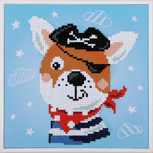 Pirate Dog Diamond Painting Kit By Vervaco