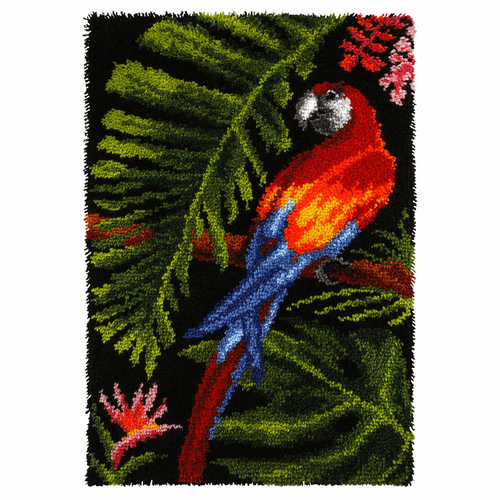 Parrot  Latch Hook Rug Kit by Orchidea