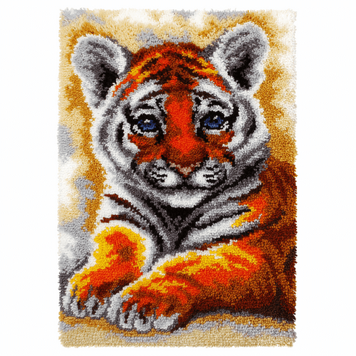 Young Tiger Latch Hook Rug Kit By Vervaco