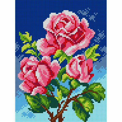 Printed Roses Needlepoint Kit by Orchidea