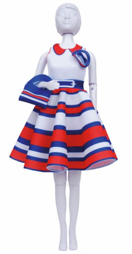 Peggy Stripes Couture Outfit Making Set by Vervaco