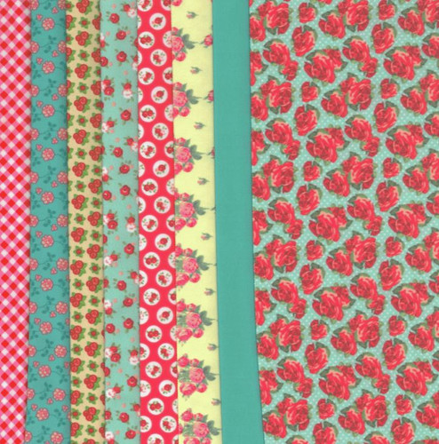 Red Roses Making Couture Fabric Set by Vervaco