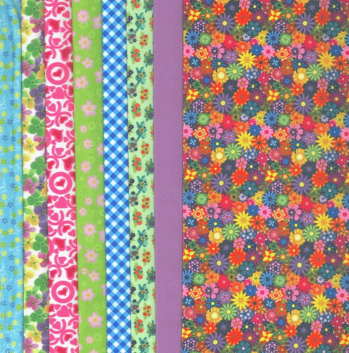 Summer Flowers Making Couture Fabric Set by Vervaco