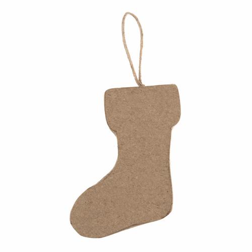 1 Hanging Papier Maché Decoration: Stocking