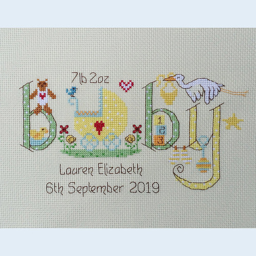 Neutral Baby Cross Stitch Chart only by Nia