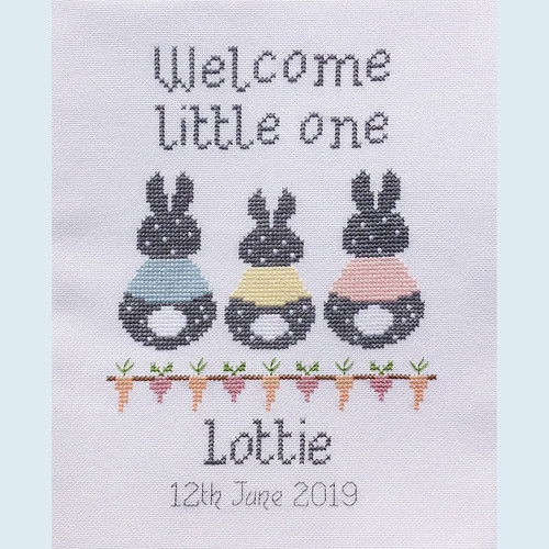 Bunny Baby Cross Stitch Chart only by Nia