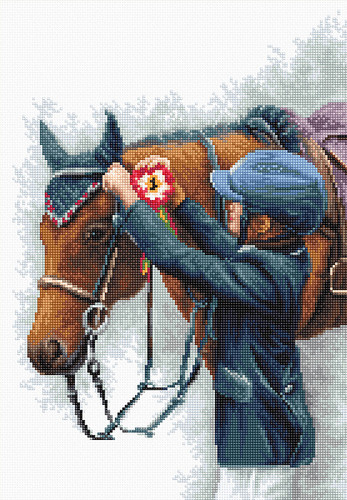 Champion Counted Cross Stitch Kit by Luca S