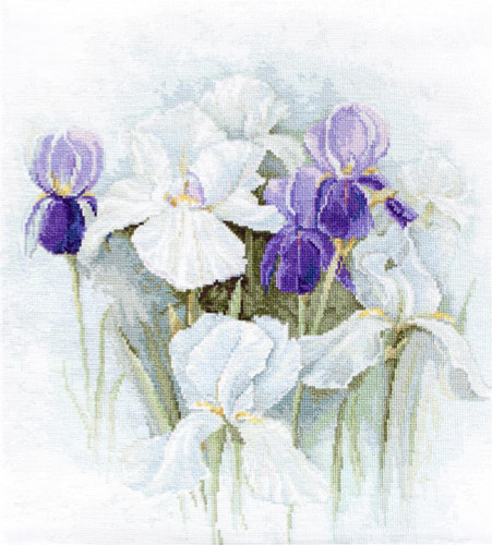 Irises Counted Cross Stitch Kit By Luca S