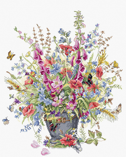 Bouquet for June Counted Cross Stitch Kit By Luca S