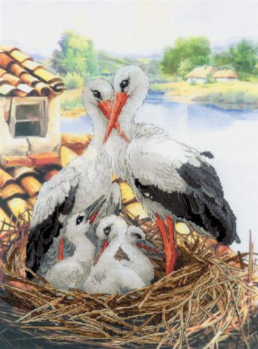 Stork Family Cross Stitch Kit By Riolis