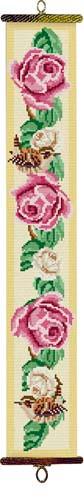 Roses and Wren Tapestry Bell Pull Kit