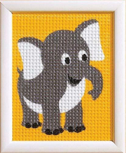 Elephant Children Tapestry Kit