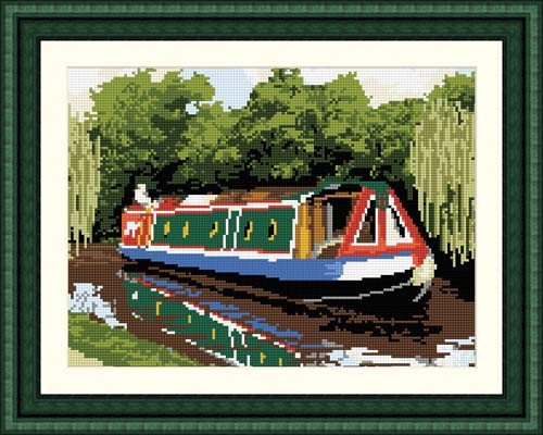 Canal Boat Tapestry Kit