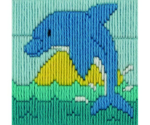 Dolphin Starter Longstitch Kit By Anchor