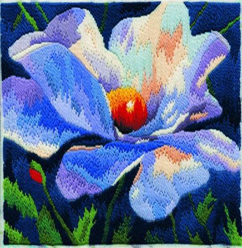 White Poppy Long Stitch Kit