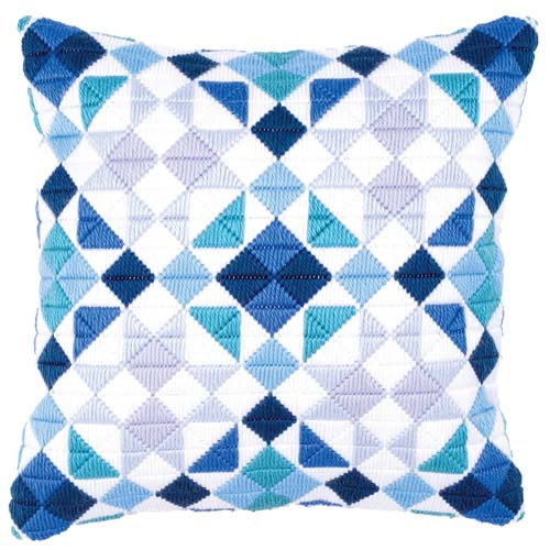 Bargello Diamond Longstitch cushion Kit