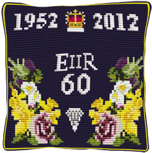 Diamond Jubilee Cushion Cross Stitch Kit