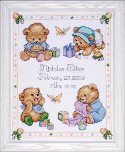 Baby Bears Sampler Cross Stitch Kit By Design Works