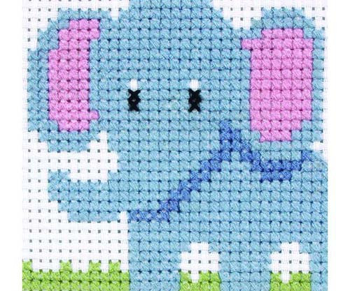 Elephant Beginners Cross Stitch Kit By Anchor