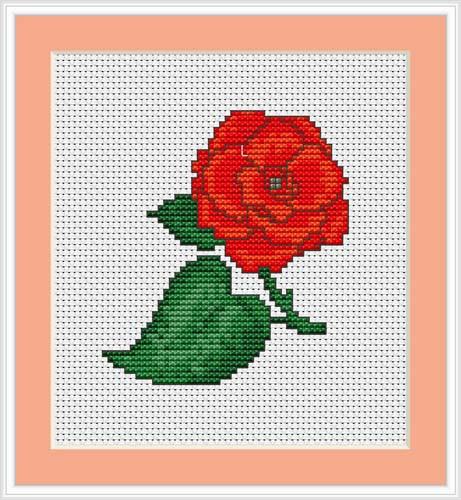 Rose Mini Cross Stitch Kit By Luca S