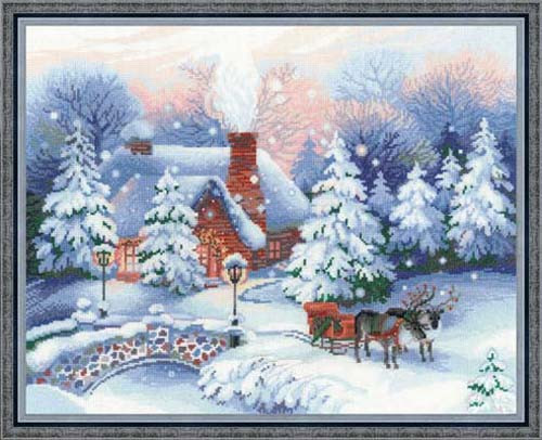 On Christmas Eve Cross Stitch Kit By Riolis
