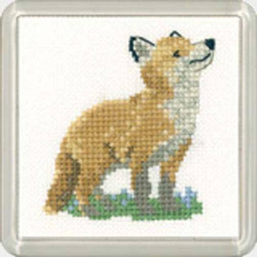 Fox Cub Coaster Cross Stitch Kit