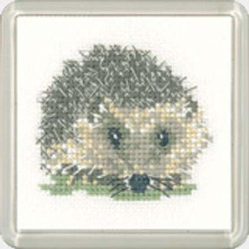 Hedgehog Coaster Cross Stitch Kit