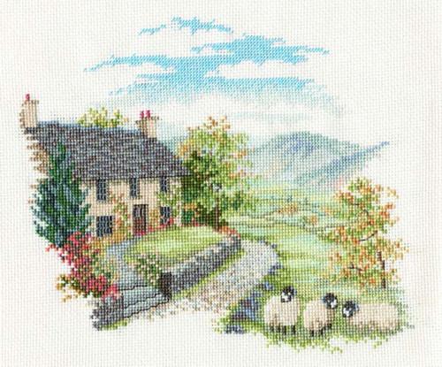 High Hill Farm Cross Stitch Kit