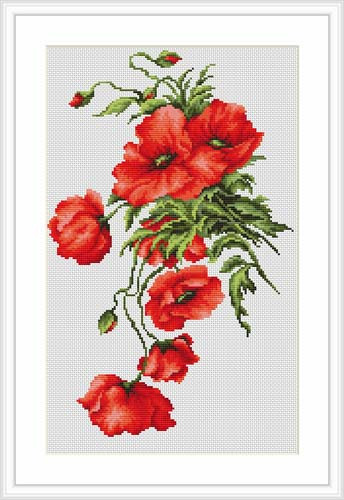 Poppies Cross Stitch Kit By Luca S