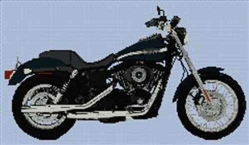 Harley Davidson Fxdx Dyna Super Glide Cross Stitch Kit