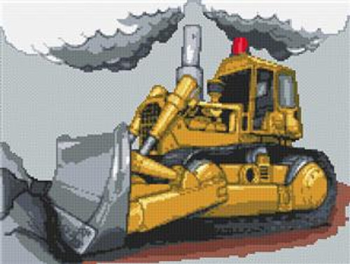 Bulldozer Cross Stitch Chart