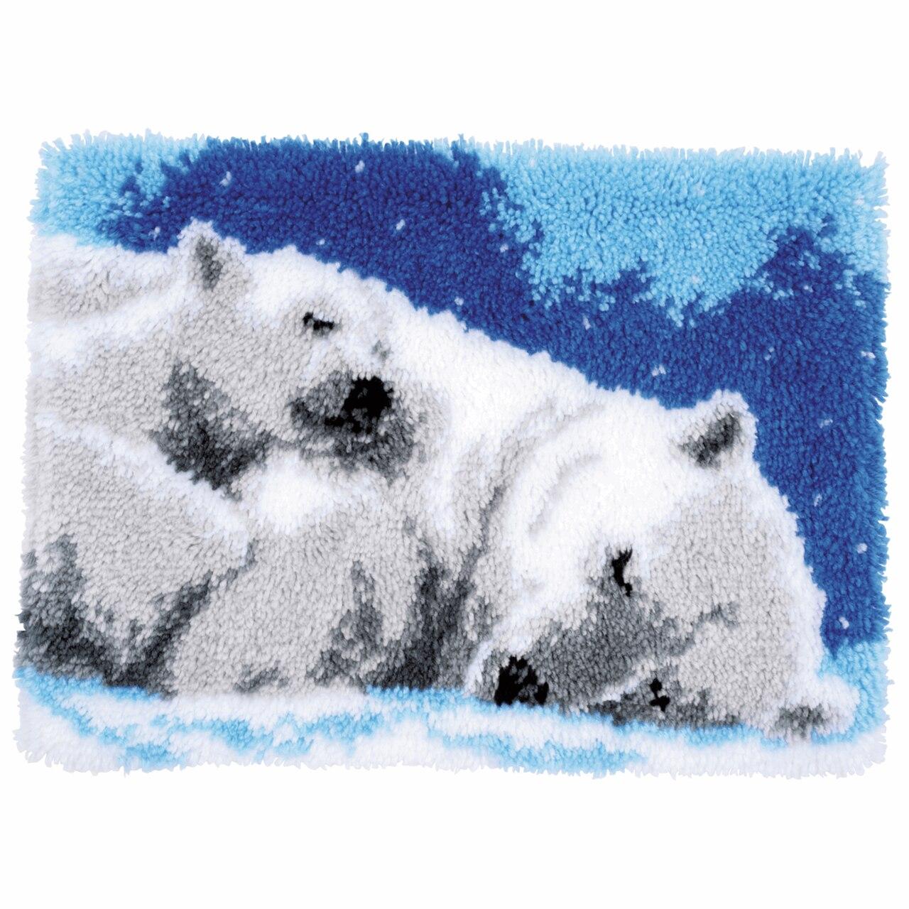 Ice Bears Latch Hook Rug