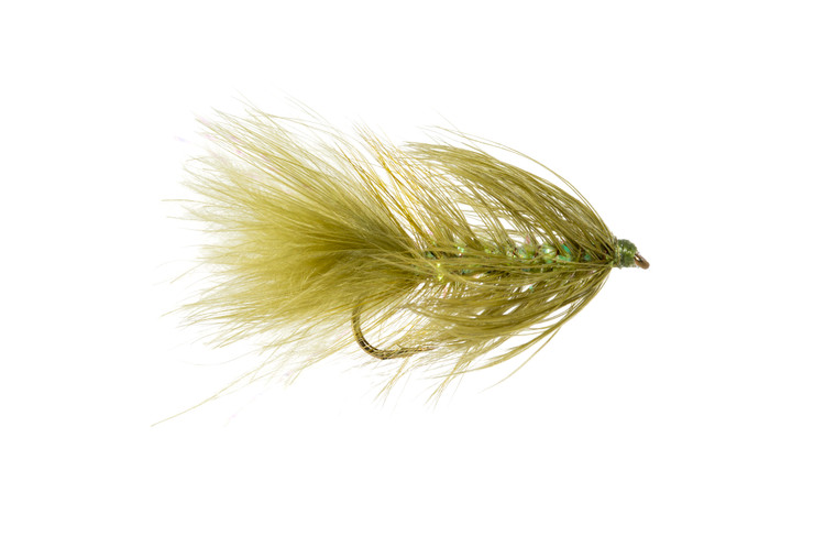 Woolly Bugger - Crystal: olive