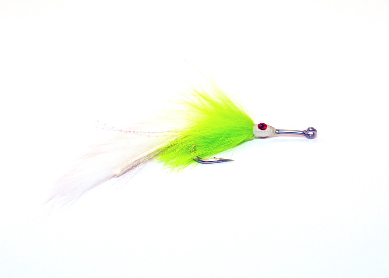 Pike Fly - Chartreuse and White