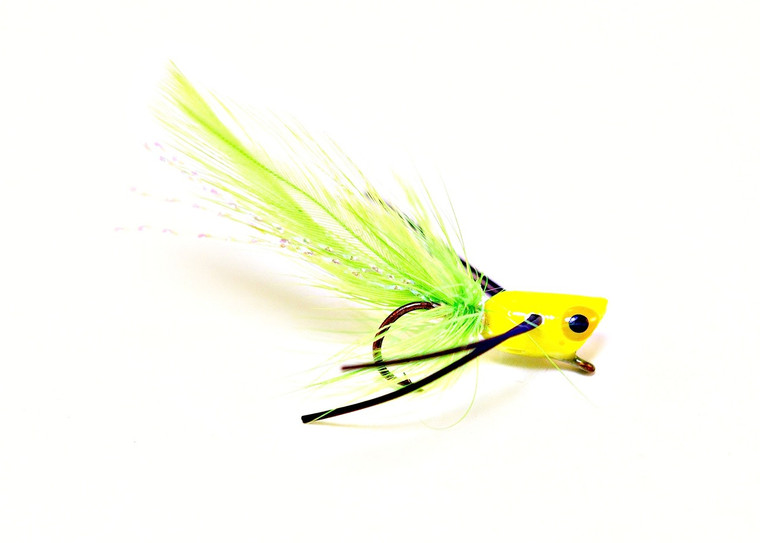 Panfish Popper - Chartreuse body/Black legs